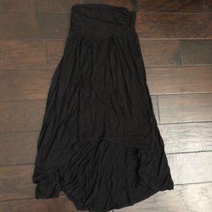 Black Strapless High Low Dress XS/S